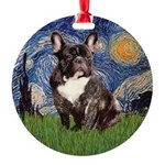 Starry-Brindle French Bulldog Ornament