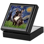 Starry-Brindle French Bulldog Keepsake Box