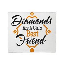 Diamonds BG Throw Blanket