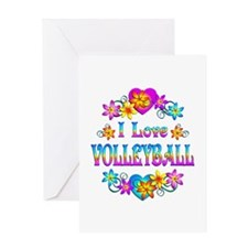 I Love Volleyball Greeting Card