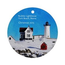 Personalized Nubble Light House Ornament
