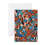 Klimtified! - Rust/Turquoise Greeting Cards (Pk of