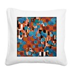 Klimtified! - Rust/Turquoise Square Canvas Pillow