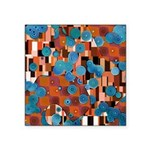 Klimtified! - Rust/Turquoise Square Sticker 3
