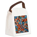 Klimtified! - Rust/Turquoise Canvas Lunch Bag