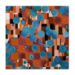 Klimtified! - Rust/Turquoise Tile Coaster