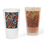Klimtified! - Rust/Turquoise Drinking Glass