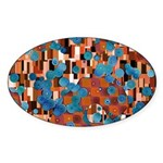 Klimtified! - Rust/Turquoise Sticker (Oval)