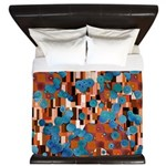 Klimtified! - Rust/Turquoise King Duvet