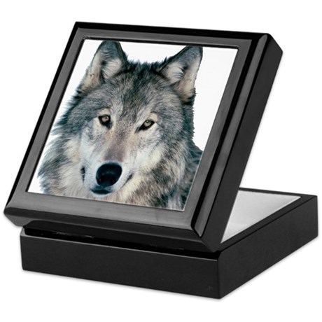 Timber Wolf - White Wolf Keepsake Box