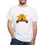 Masonic Bee Hive White T-Shirt