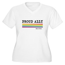 Proud Ally: Love is Love Design Plus Size T-Shirt
