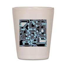 ElecTRON - Blue/Black Shot Glass