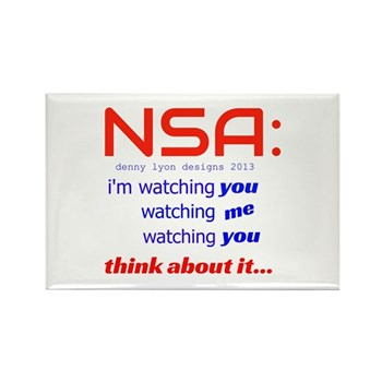NSA Watching Rectangle Magnet