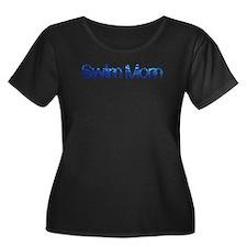 Swim mom waterdrop Plus Size T-Shirt