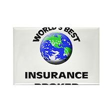 World's Best Insurance Broker Rectangle Magnet
