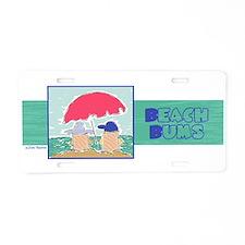 Beach Bums Aluminum License Plate