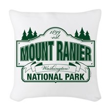 Mt Ranier NP Woven Throw Pillow