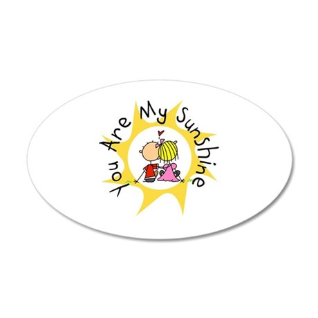 In Love You Are My Sunshine 20x12 Oval Wall Decal