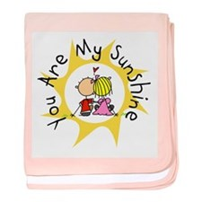 In Love You Are My Sunshine baby blanket