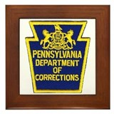 Pensylvania Corrections Framed Tile