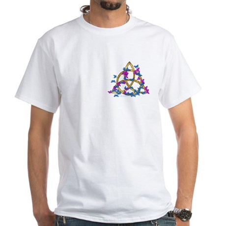Butterfly Triquetra White T-Shirt