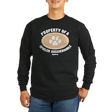 3-Dog Walker Aussiedoodle-B.png Long Sleeve T-Shir