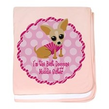 Chihuahua Middle Sister baby blanket
