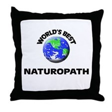 World's Best Naturopath Throw Pillow