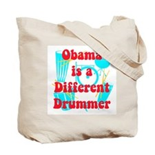 Obama Different Drummer Tote Bag