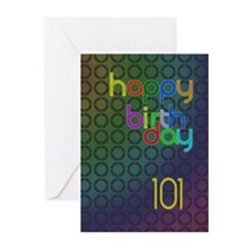 101st Birthday card for a man Greeting Cards (Pk o