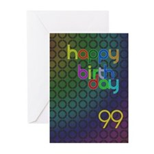 99th Birthday card for a man Greeting Cards (Pk of
