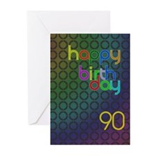90th Birthday card for a man Greeting Cards (Pk of