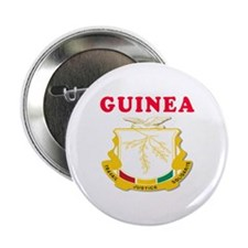 """Guinea Coat Of Arms Designs 2.25"""" Button (10 pack)"""