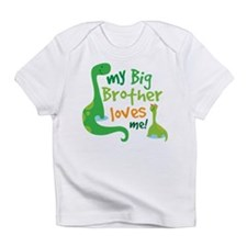 Big Brother Loves Me dinosaur Infant T-Shirt