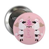 "Joy to the World Poodles 2.25"" Button (10 pack)"