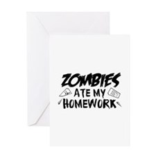 Zombie Ate My Homework Greeting Card