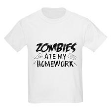 Zombie Ate My Homework T-Shirt