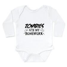 Zombie Ate My Homework Long Sleeve Infant Bodysuit