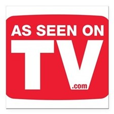 "As Seen On TV Square Car Magnet 3"" x 3"""