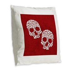 Cute Goth wedding Burlap Throw Pillow