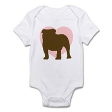 Bulldog Heart Infant Bodysuit