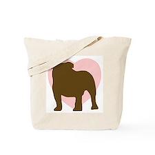 Bulldog Heart Tote Bag