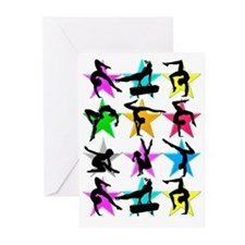 SUPER STAR GYMNAST Greeting Cards (Pk of 10)