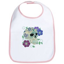 Day of the Dead Skull - Día d Bib