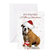 Bulldog Christmas Greeting Card (Pk of 10)