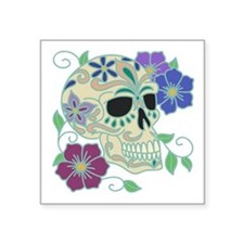 "Sugar Skull Square Sticker 3"" x 3"""