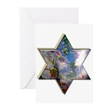 Star of David Greeting Cards (10 in pack)