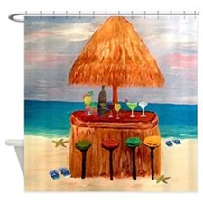Tiki Bar Shower Curtain