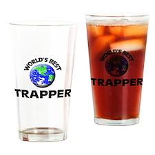World's Best Trapper Drinking Glass